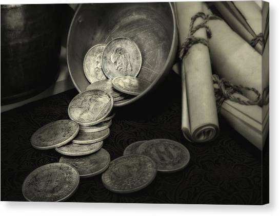 Coins Canvas Print - Loose Change Still Life by Tom Mc Nemar