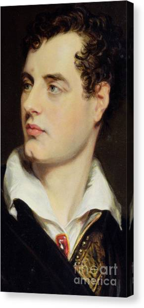 Chin Canvas Print - Lord Byron by William Essex