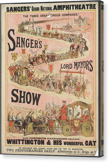 The Amphitheatre Canvas Print - Lord Mayors Show by British Library