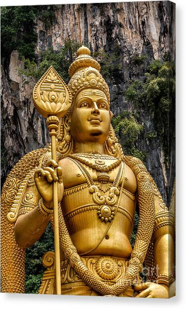 Limestone Caves Canvas Print - Lord Murugan by Adrian Evans