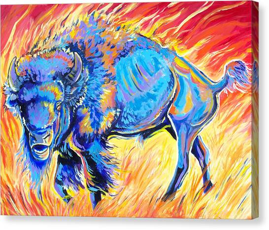 Lord Of The Prairie Canvas Print