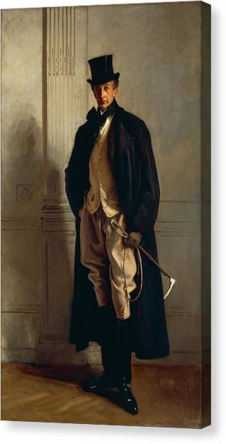 Gent Canvas Print - Lord Ribblesdale by John Singer Sargent
