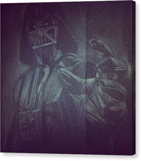 Jedi Canvas Print - Lord Vader On Griptape ( Sandpaper) / by Art War