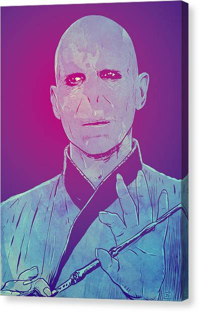 Harry Potter Canvas Print - Lord Voldemort by Giuseppe Cristiano