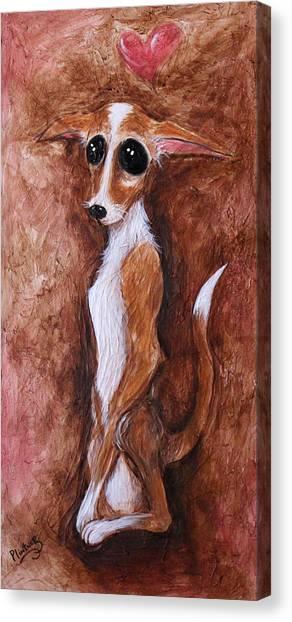 Loretta Chihuahua Big Eyes  Canvas Print