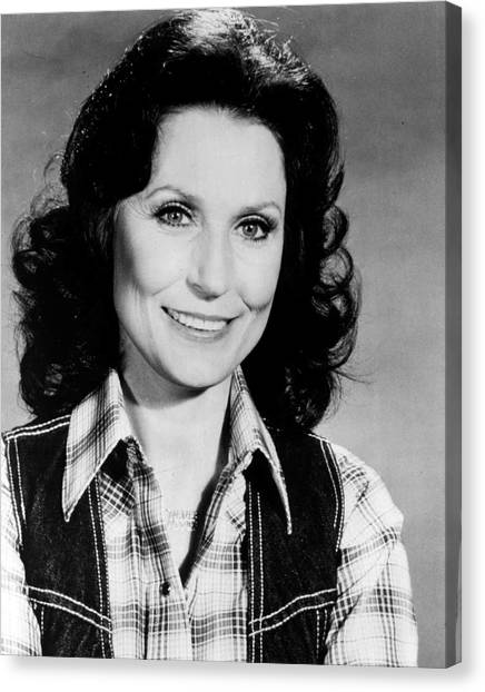 First Ladies Canvas Print - Loretta Lynn Smiling by Retro Images Archive