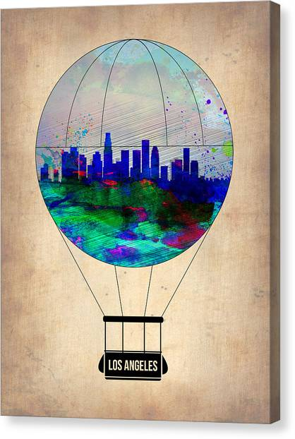 Balloons Canvas Print - Los Angeles Air Balloon by Naxart Studio