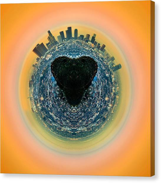Santa Monica Canvas Print - Love La by Az Jackson