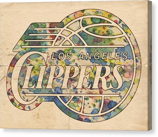 La Clippers Canvas Print - Los Angeles Clippers Poster Art by Florian Rodarte