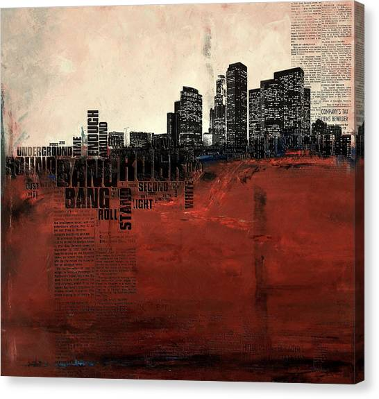 University Of Chicago Canvas Print - Los Angeles Collage 3 Alternative by Corporate Art Task Force