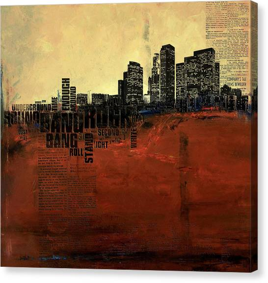 University Of Chicago Canvas Print - Los Angeles Collage 3 by Corporate Art Task Force