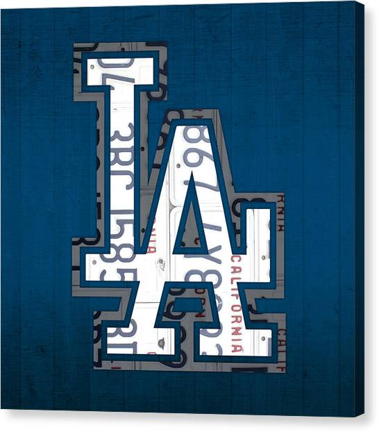 Los Angeles Dodgers Canvas Prints Fine Art America