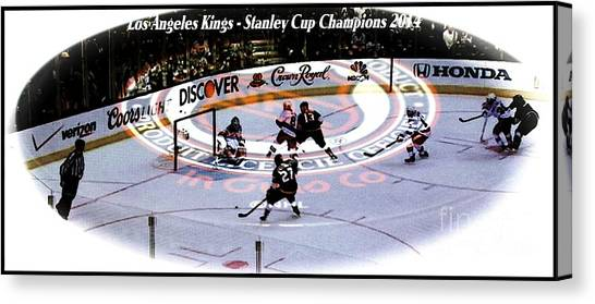 Los Angeles Kings Canvas Print - Los Angeles Kings 2014 by RJ Aguilar