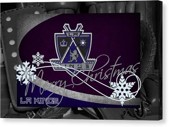 Los Angeles Kings Canvas Print - Los Angeles Kings Christmas by Joe Hamilton
