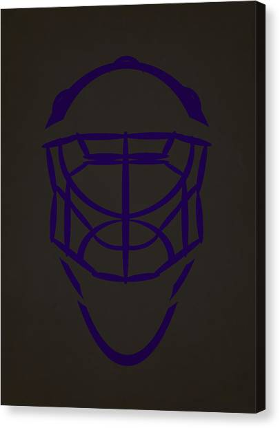 Los Angeles Kings Canvas Print - Los Angeles Kings Goalie Mask  by Joe Hamilton
