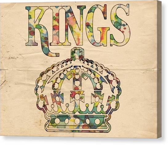 Los Angeles Kings Canvas Print - Los Angeles Kings Retro Poster by Florian Rodarte