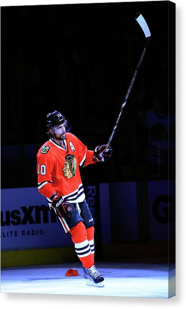 Los Angeles Kings V Chicago Blackhawks Canvas Print by Jamie Squire