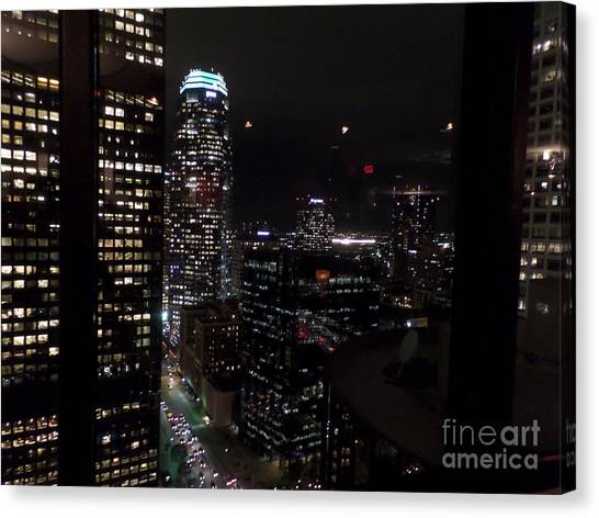 Los Angeles Nightscape Canvas Print