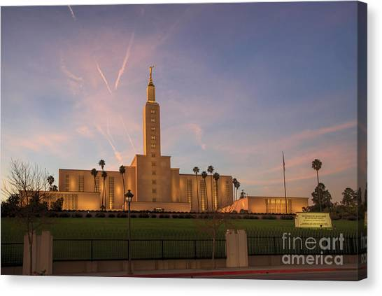 Los Angeles Temple Canvas Print