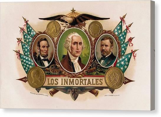 Los Inmortales Cigar Box Label Canvas Print
