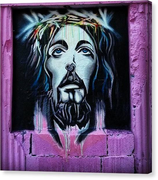 The Crown Canvas Print - Los Muros Hablan En Río Piedras #jesus by Jason Velez