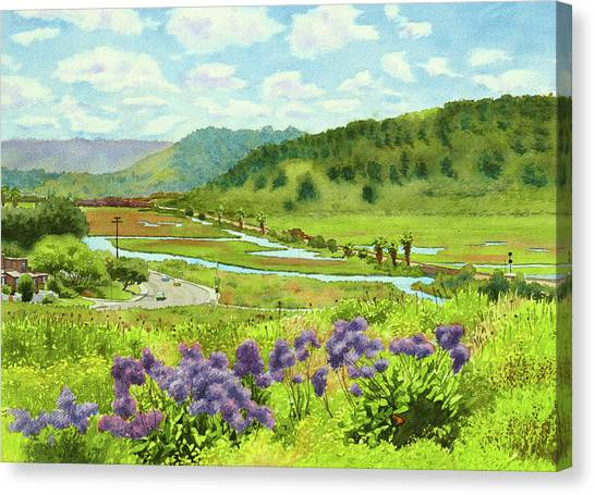 Railroads Canvas Print - Los Penasquitos Looking East by Mary Helmreich