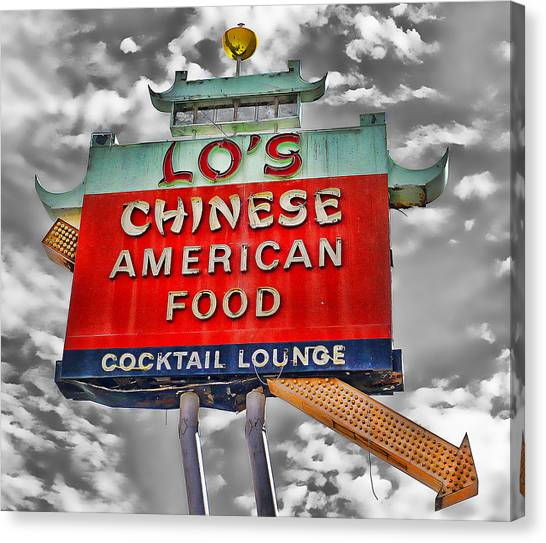 Chinese Restaurant Canvas Print - Lo's Route 66 Sign by Ron Regalado