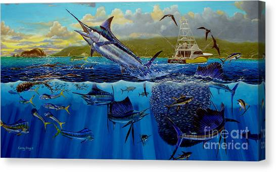 Miami Dolphins Canvas Print - Los Suenos by Carey Chen
