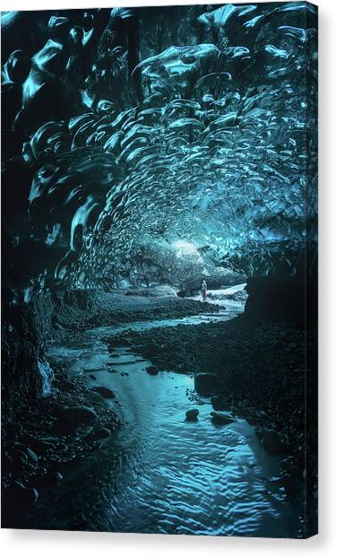 Caves Canvas Print - Lost And Frozen World by Javier De La