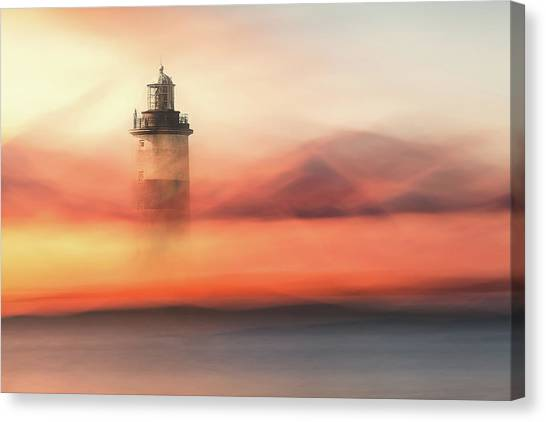 Lost At Sea Canvas Print by Gustav Davidsson