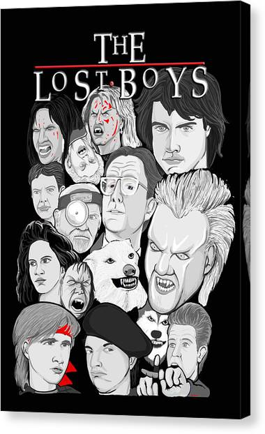 Lost Boys Collage Canvas Print by Gary Niles