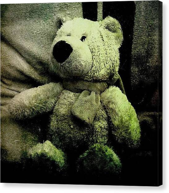 Teddy Bears Canvas Print - Lost Childhood. #teddy #toy #plush by Manuela Kohl