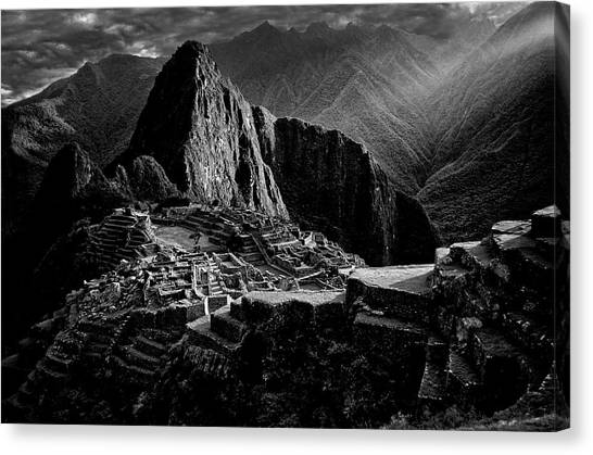 Peruvian Canvas Print - Lost City Of The Incas by Alejandro Fern?ndez Mu?oz