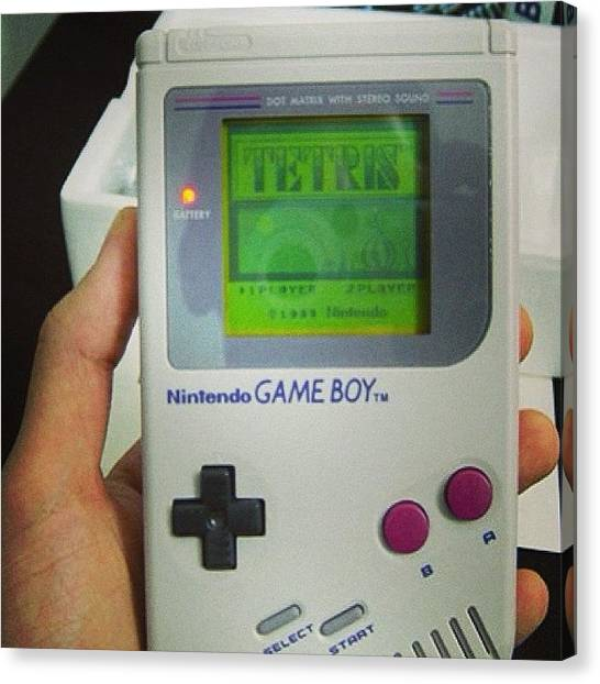 Gameboy Canvas Print - Lost Days. #gameboy #tetris #tbt by The Fun Enthusiast