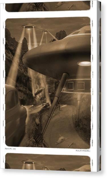 Imaginative Canvas Print - Lost Film 35 Mm by Mike McGlothlen