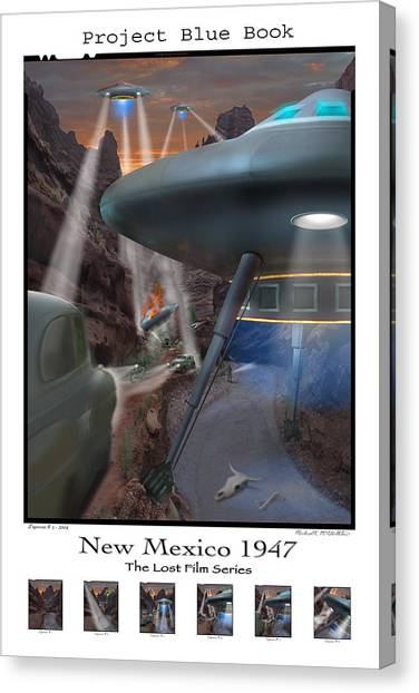Ufos Canvas Print - Lost Film Number 5 Se by Mike McGlothlen