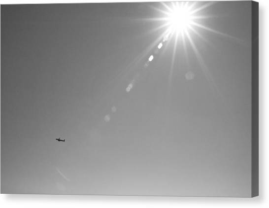 Prop Planes Canvas Print - Lost In A Big Sky by William Wetmore