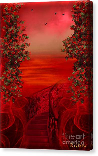 Lost In Red - Surreal Art By Giada Rossi Canvas Print