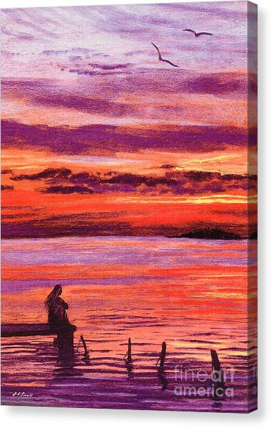Abstract Seascape Canvas Print - Lost In Wonder by Jane Small