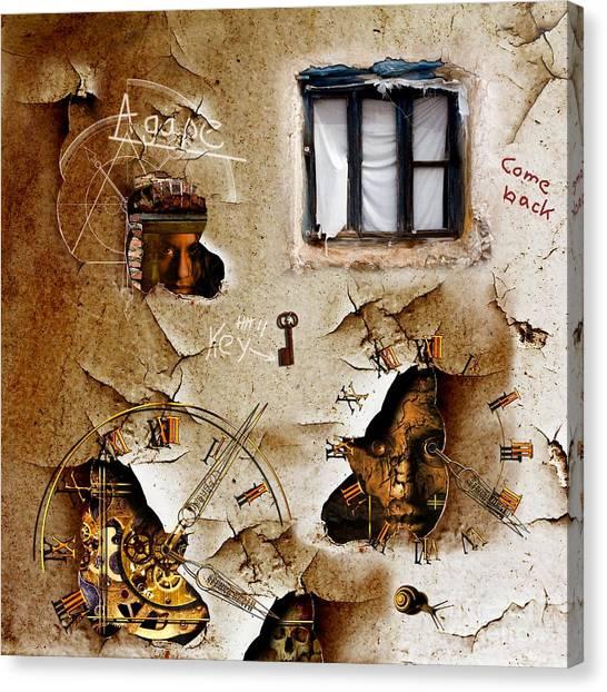 Compose Canvas Print - Lost Memories Behind My Longing Window by Franziskus Pfleghart