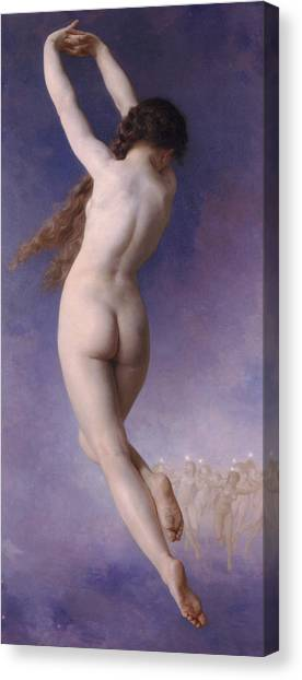 Erotic Framed Canvas Print - Lost Pleiad by William-Adolphe Bouguereau