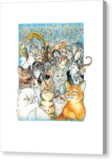 Ocicats Canvas Print - Lots Of Cats by JA Mager