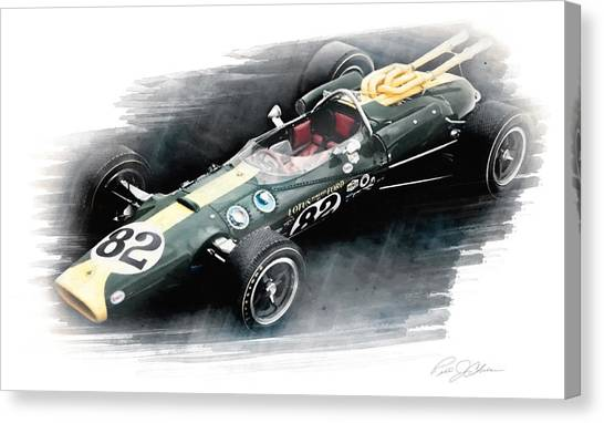 Indy 500 Canvas Print - Lotus 38 by Peter Chilelli