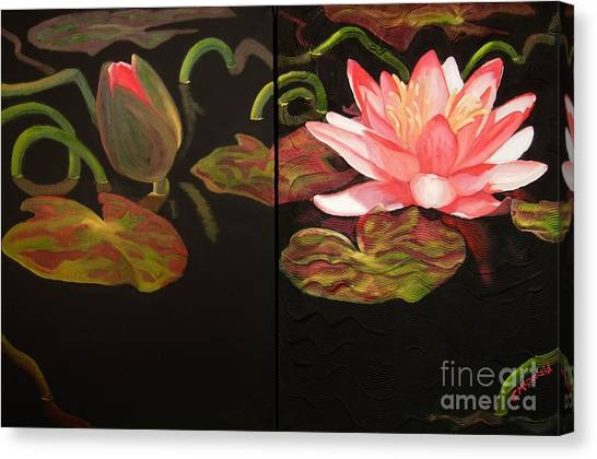 Lotus Bud To Bloom Canvas Print