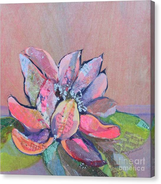 Collage Canvas Print - Lotus Iv by Shadia Derbyshire
