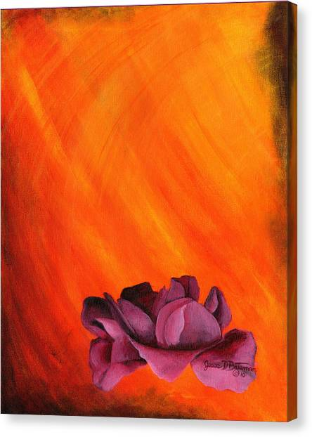Lotus Rose Canvas Print