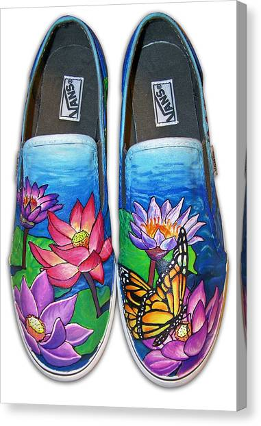 Lotus Shoes Canvas Print