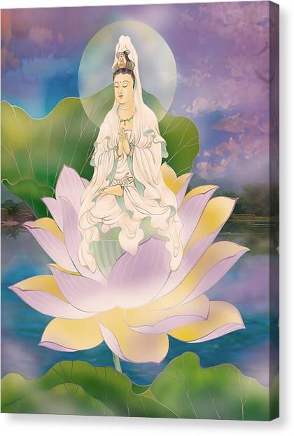Lotus-sitting Avalokitesvara  Canvas Print