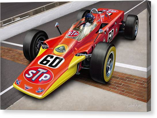 Nascar Canvas Print - Lotus Stp Indy Turbine by David Kyte