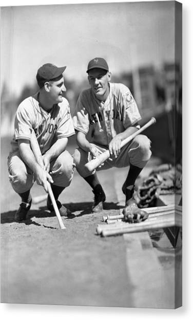 Lou Gehrig Canvas Print - New York Yankees  by Retro Images Archive
